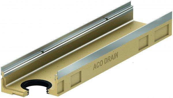 ACO DRAIN Multiline V 100 Korytko niskie (6 cm) z uszczelką O110 Krawędzie ze stali ocynkowanej ACO P12328