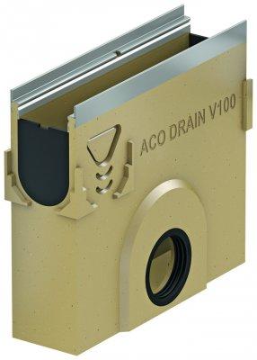 ACO DRAIN Multiline V 100 Skrzynka odpływowa V 100 z polimerbetonu Skrzynka niska O 160 Krawędzie ze stali ocynkowanej ACO P12398
