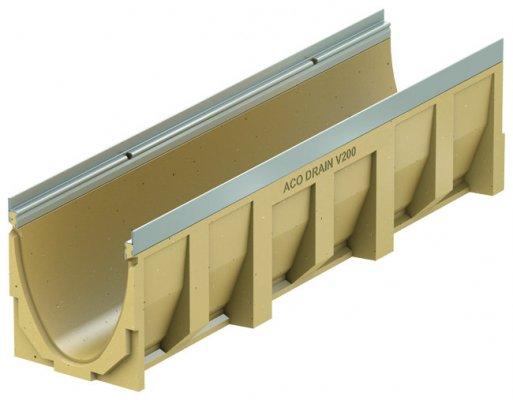 ACO DRAIN Multiline V 200 Korytko z polimerbetonu V 200 0.0 Krawędzie ze stali ocynkowanej ACO P13130