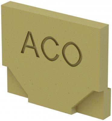 ACO SELF Euroline Ścianka czołowa pełna ACO P38504
