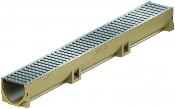 ACO SELF Euroline Kanał odwodnieniowy w kształcie V, z bezśrubowo mocowanym rusztem kanał 1,0 m ruszt ze stali ocynkowanej ACO P38700