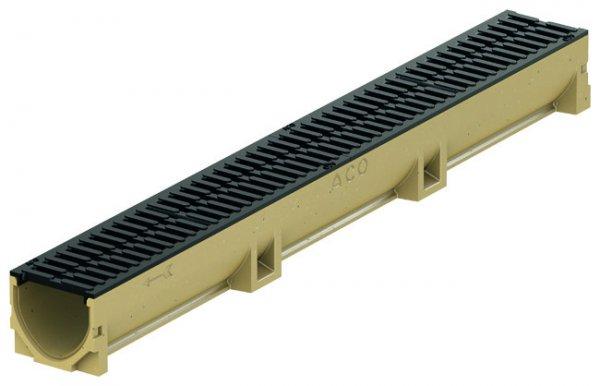 ACO SELF Euroline Kanał odwodnieniowy w kształcie V, z bezśrubowo mocowanym rusztem kanał 0,5 m ruszt z żeliwa ACO P38707