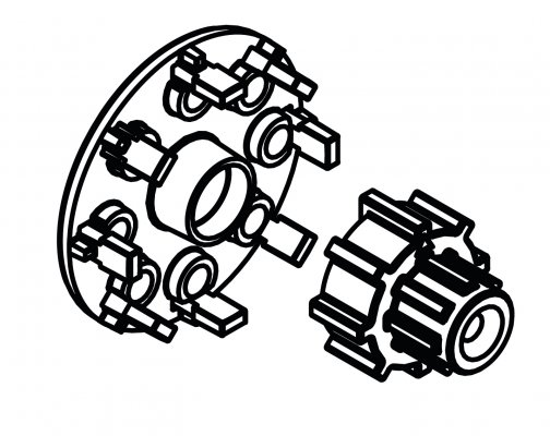 Zestaw Montażowy  Arm/Act/Arc Na Zawory Arv Proclik Afriso 1410101