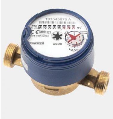 Wodomierz jednostrumieniowy, suchobieżny do wody zimnej GSD8-I DN20 AM Bmeters 5903299931046