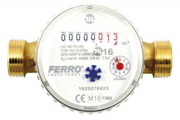 Wodomierz Ferro Jed.Suchob.1/2Cds/D 30C Ferro CDSD15AFPLUS