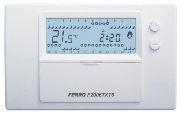 Tygodniowy Regulator Elektroniczny 2006Tx Bezprzew Ferro F2006TXT6
